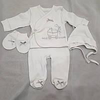 """Комплект для новорожденных """"белая коляска"""", фото 1"""