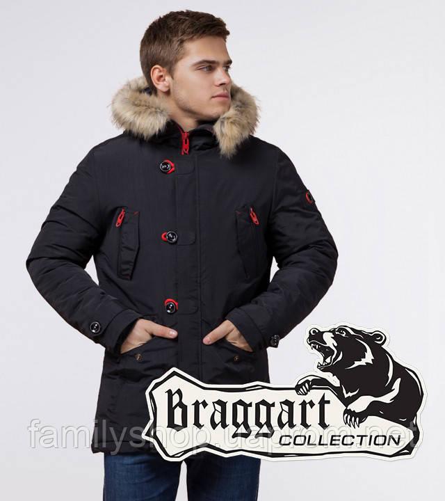 Braggart - Arctic 38230   Зимняя парка черный-красный