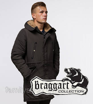 Braggart - Arctic 90520 | Парка зимняя коричневая, фото 2
