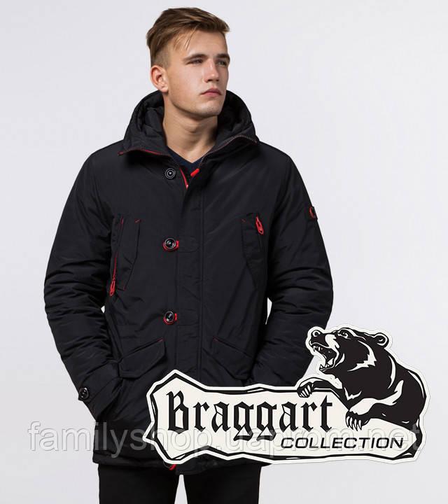 Braggart - Arctic 44230 | Парка зимняя черный-красный