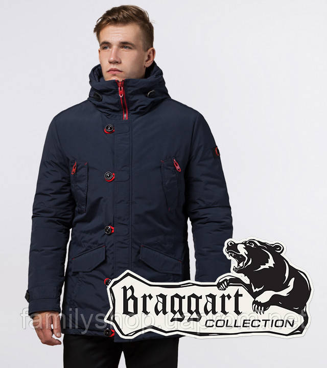 Braggart - Arctic 44230 | Парка мужская зимняя синий-красный
