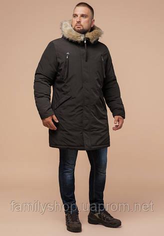 Braggart - Arctic 13475 | Парка зимняя мужская коричневая, фото 2