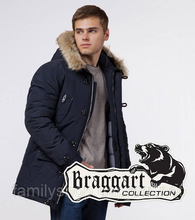Braggart - Arctic 38230 | Мужская парка зимняя т-синий-серый