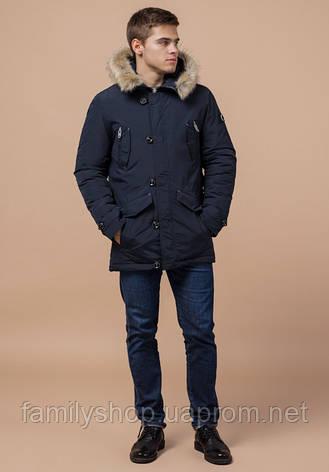 Braggart - Arctic 38230 | Мужская парка зимняя т-синий-серый, фото 2