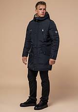 Braggart - Arctic 96120   Парка зимняя мужская черно-синяя, фото 2