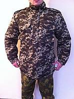 Куртка зимняя камуфляжная на утепленной подкладке М-65 (темный пиксель)