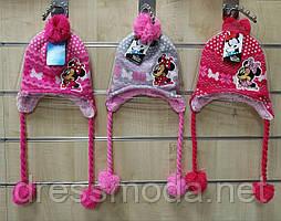 Зимові Шапочки для дівчаток Minnie 52-54 см