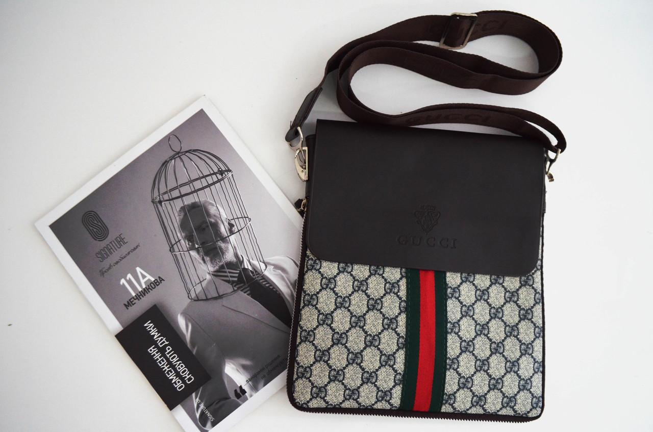 c4cfe4a3db8f Мужская сумка Gucci(Гуччи) через плечо копия, дроп и опт, брендовая ...