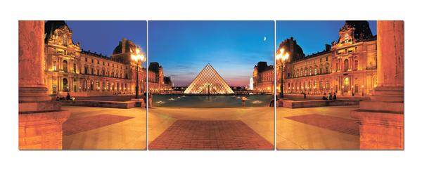 """Картина на стекле """"Ночная площадь"""""""