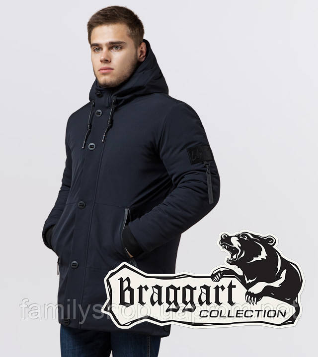 Braggart 'Black Diamond' 9042 | Куртка мужская зимняя т-синяя