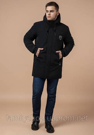 Braggart 'Black Diamond' 9028 | Куртка мужская зимняя черная, фото 2