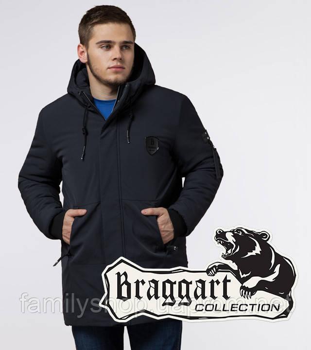Braggart 'Black Diamond' 9028 | Зимняя куртка классическая графит