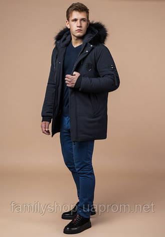 Braggart 'Black Diamond' 9828 | Зимняя мужская куртка графит, фото 2