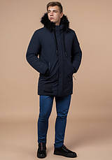 Braggart 'Black Diamond' 9985 | Мужская зимняя куртка т-синяя, фото 2