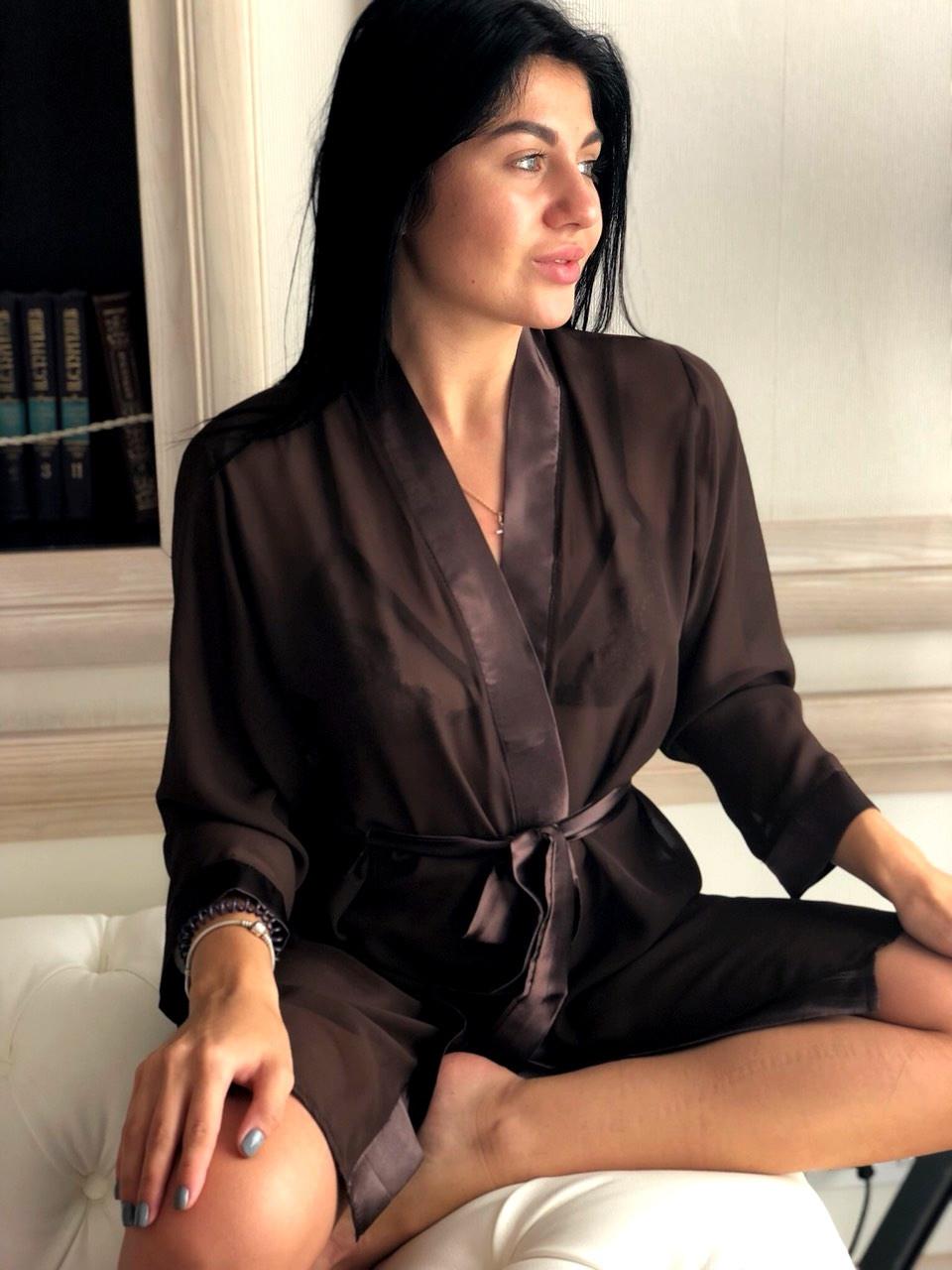 Шифоновый женский халат,для дома