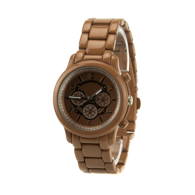 Часы женские блестящие коричневые NY-03L.brown