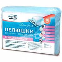 Пеленки Magic Pet для приучения к туалету для собак и щенков 60*60см, 38г/4г (10шт)