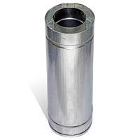 Труба дымоходная сэндвич 0.5 м х 110 мм х 170 мм нерж/цинк (0.5мм/0.5 мм) утепленная двустенная