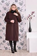 Пальто с воротником стойка большого размера, с 42-74 размер, фото 1
