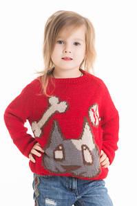 Вязаные свитера для девочек