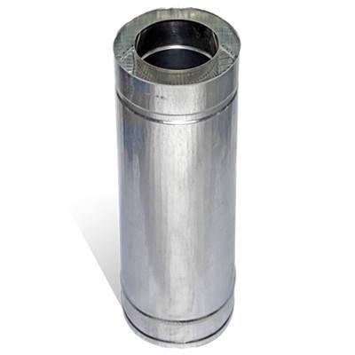 Труба дымоходная сэндвич 0.5 м х 220 мм х 280 мм нерж/цинк (0.5мм/0.5 мм) утепленная двустенная, фото 2