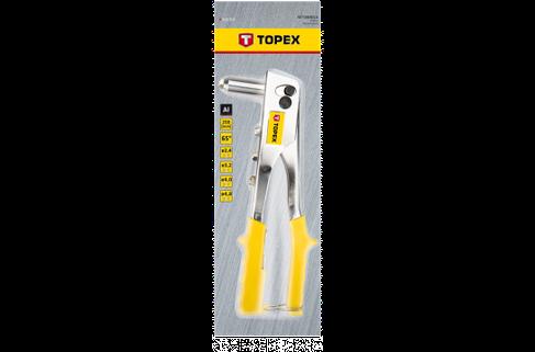 Заклепочник для заклепок алюминиевых 2.4, 3.2, 4.0, 4.8 мм, TOPEX 43E707, фото 2
