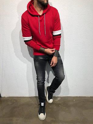 Кофта худи мужская красная, фото 2