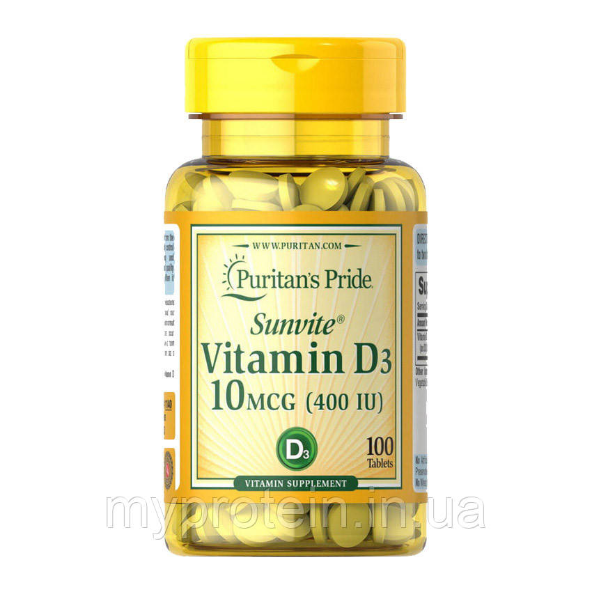 Puritan's Pride  витамин Д Vitamin D3 400 IU100 tablets