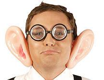 Накладные уши резиновые