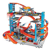 Трек Хот Вилс Ультимэйт Гараж Атака Акулы Hot Wheels City Ultimate Garage with Shark Attack