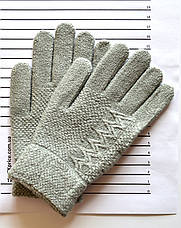 Детские шерстяные перчатки для девочки - длина 17 см, фото 3