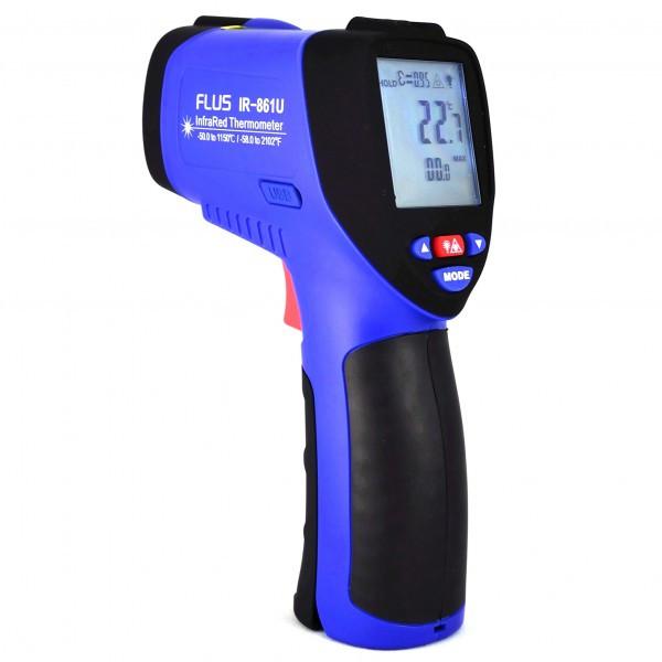 Пирометр-регистратор 50:1 (-50…+1150 ºС) USB FLUS IR-861U