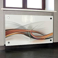 Экран на радиатор из стекла с изображением