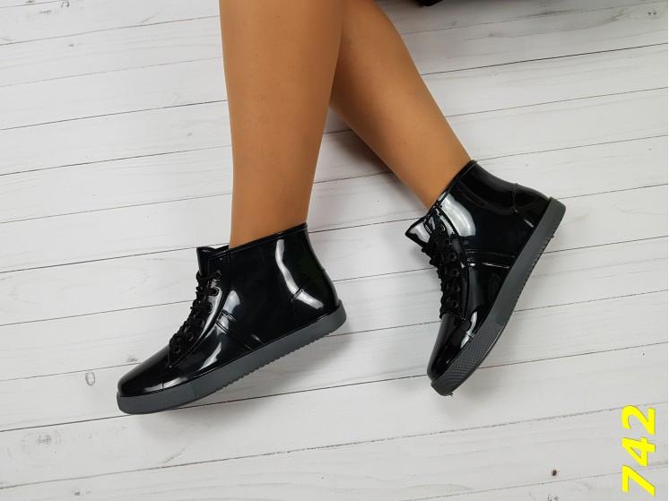 Резиновые ботинки 37 размер идет на 36  непромокаемые модельные К742, фото 1