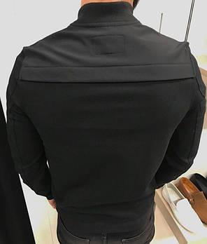Бомбер мужской черного цвета, фото 2