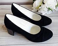 Замшевые женские туфли на каблуке от производителя