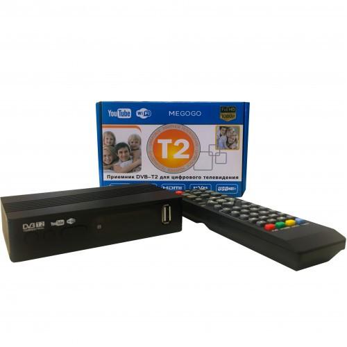 Цифровой ресивер DVB-T2 megogo, Тюнер Т2 - DVB-T2 + HD плеер Цифровая приставка (Цифровой ресивер) с HDMI