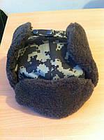 Шапка военная камуфлированная (темный пиксель)