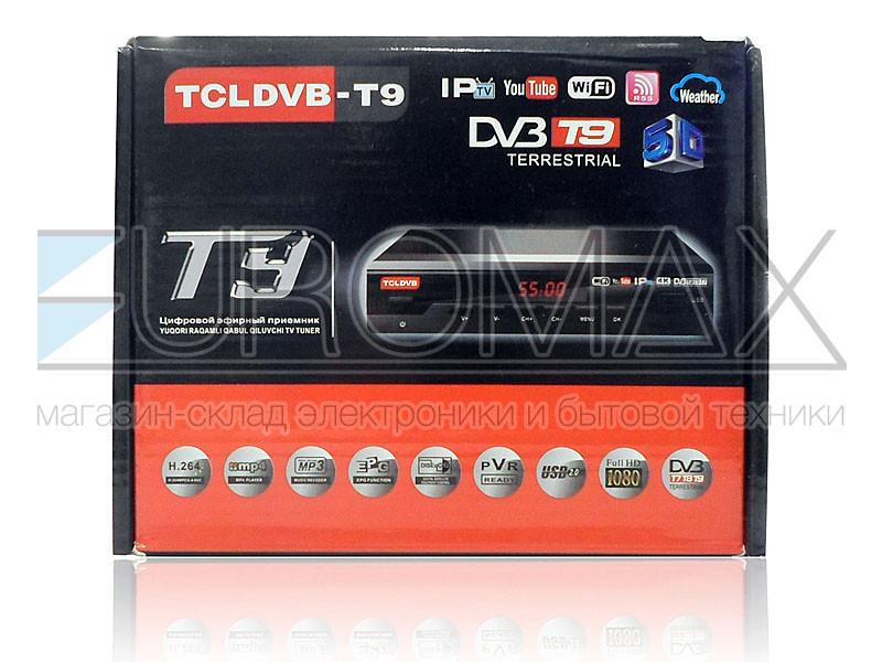 Цифровой эфирный приемник T2 TCLDVB DV3-T9 IPTV/YouTube/WiFi/MP4 T2-DVB-T5500