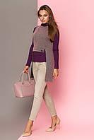 Женский трикотажный жилет, цвет персик, размеры от 44 до 50