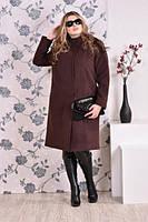 Женское пальто утепленное для крупных женщин, с 42-74 размер, фото 1
