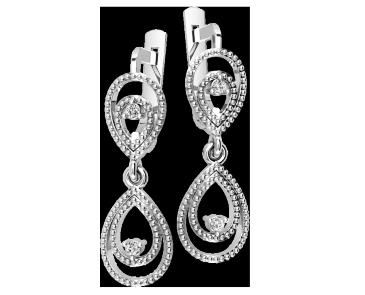 Серьги серебряные  Василиса 41102