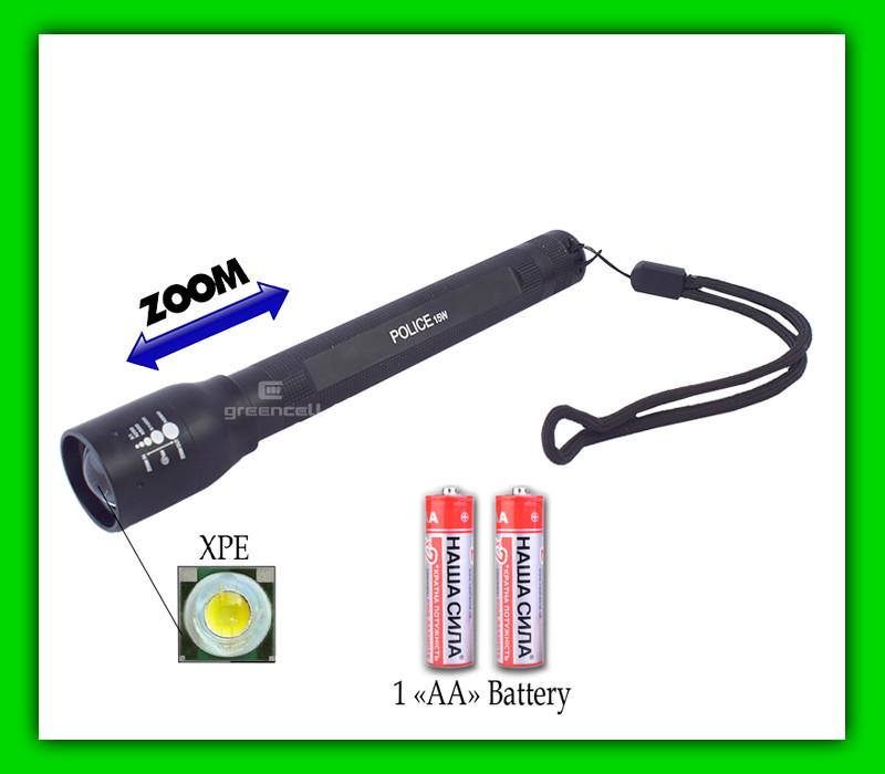 Фонарь  Police 8412 на батарейках (2 х АА)