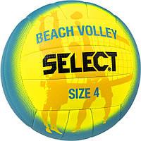 Мяч для пляжного волейбола Select Beach Volley сине-желтый, размер 4