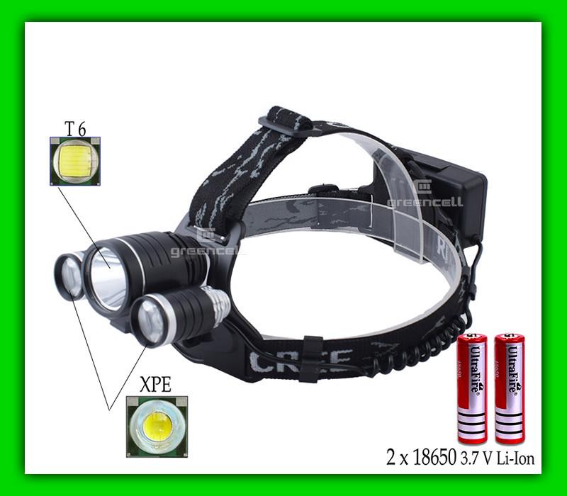 Налобний ліхтар Police BL-6633-T6
