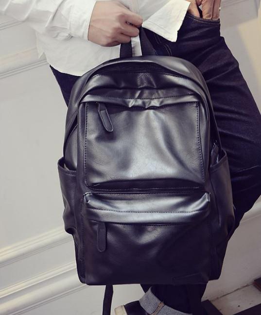 b866d4b53990 Мужской кожаный рюкзак (экокожа) черный: продажа, цена в Днепре ...