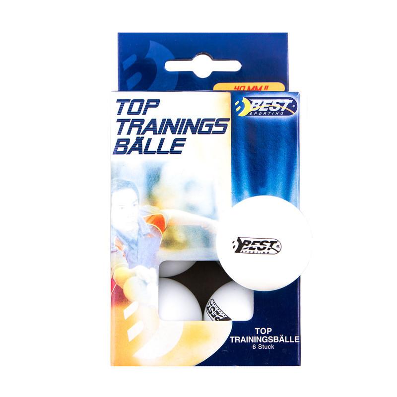 Кулі для настільного тенісу набір 6 штук BEST, 23100 білі в паперовій коробці