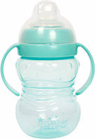 Поильник с ручками и силиконовым носиком детская бутылочка для воды, 250 мл. Lindo