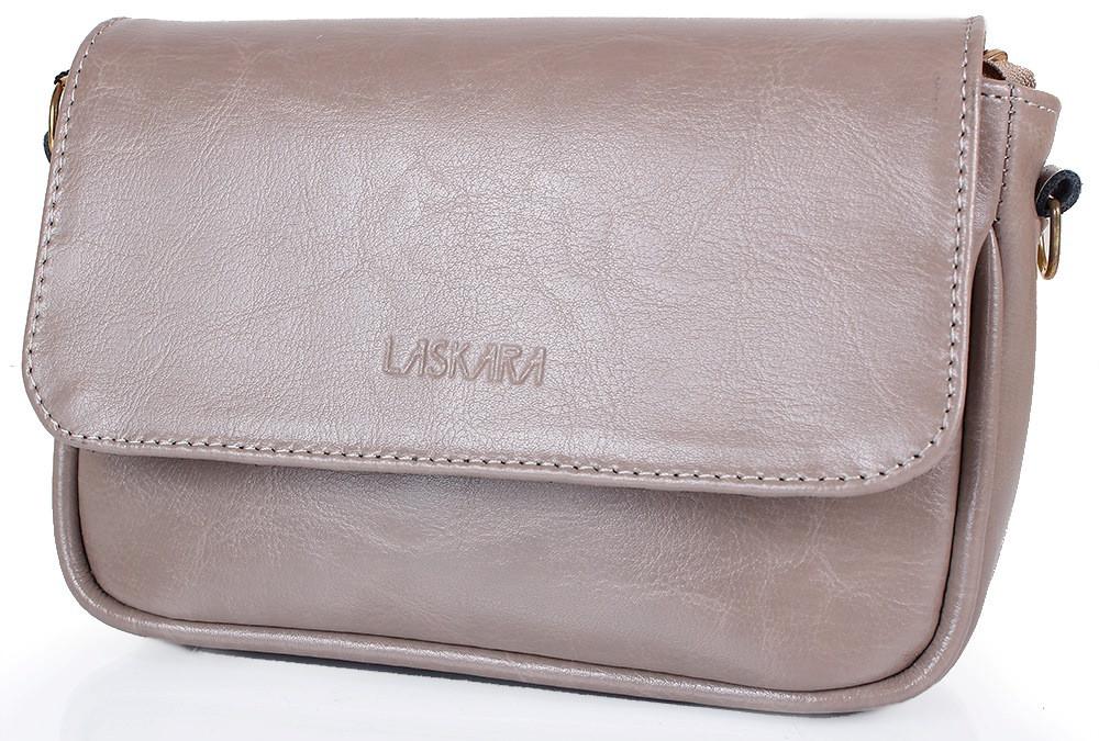 dace15350574 Женская кожаная сумка-клатч LASKARA LK-DD225-taupe, серая — только ...