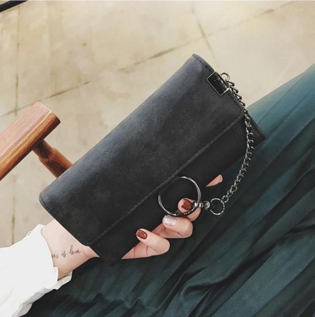 4e53c618f346 Модный женский клатч кошелек кожа ПУ Черный: продажа, цена в ...